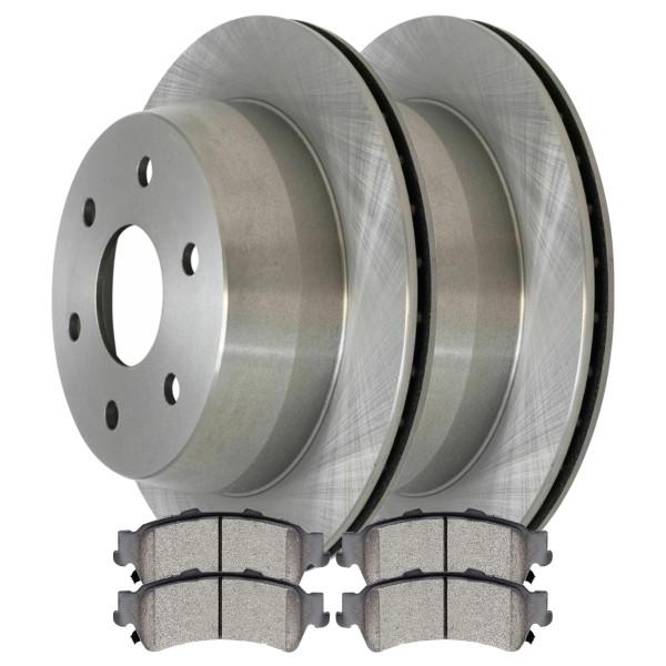 [Set] 2 Brake Rotors & 1 Set Performance Ceramic Brake Pads - Part # PCDR6506865068792