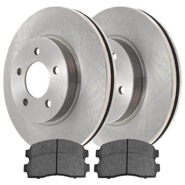 [Set] 2 Brake Rotors & 1 Set Performance Ceramic Brake Pads - Part # PCDR6508265082913