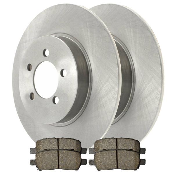 [Set] 2 Brake Rotors & 1 Set Performance Ceramic Brake Pads - Part # PCDR6508765087999
