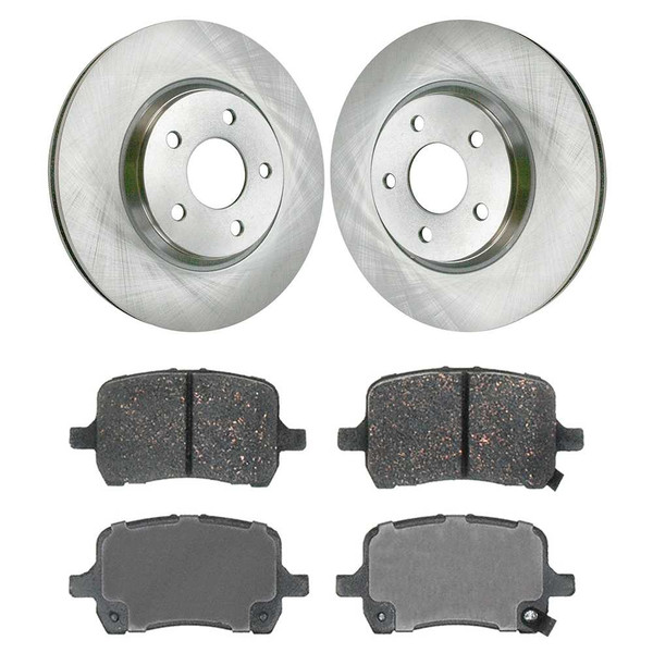 Kit Disc Rotors Pair + Performance Ceramic Brake Pads Set - Part # PCDR65095650951160