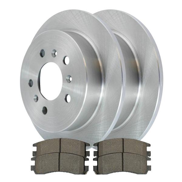 [Set] 2 Brake Rotors & 1 Set Performance Ceramic Brake Pads - Part # PCDR6512765127698