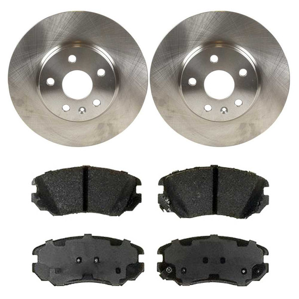 Kit Disc Rotors Pair + Performance Ceramic Brake Pads Set - Part # PCDR65176651761421