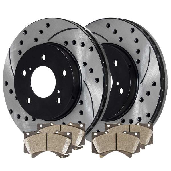 Front Performance Ceramic Brake Pad and Performance Rotor Bundle - Part # PERF414841303