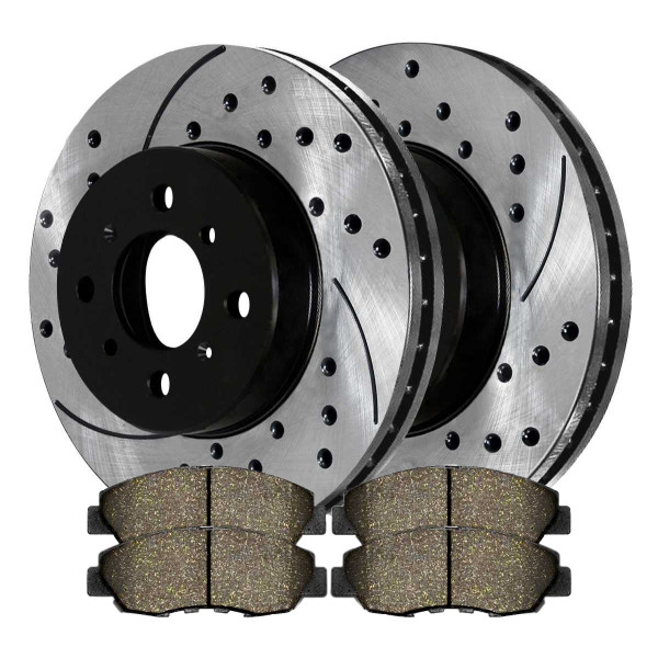 Front Performance Ceramic Brake Pad and Performance Rotor Bundle - Part # PERF4297465A