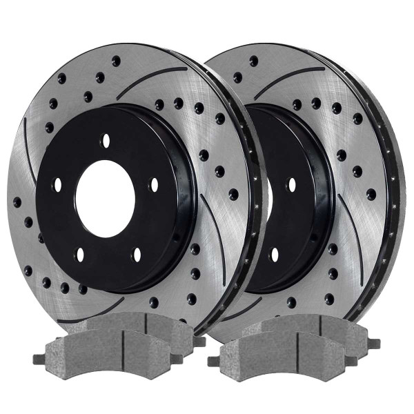 Front Performance Ceramic Brake Pad and Performance Rotor Bundle 5 Stud - Part # PERF630071084