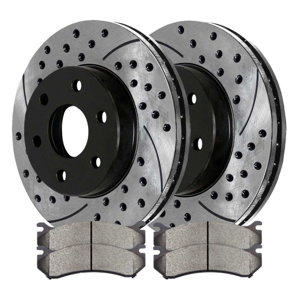 Front Performance Ceramic Brake Pad and Performance Rotor Bundle 6 Stud - Part # PERF65056785