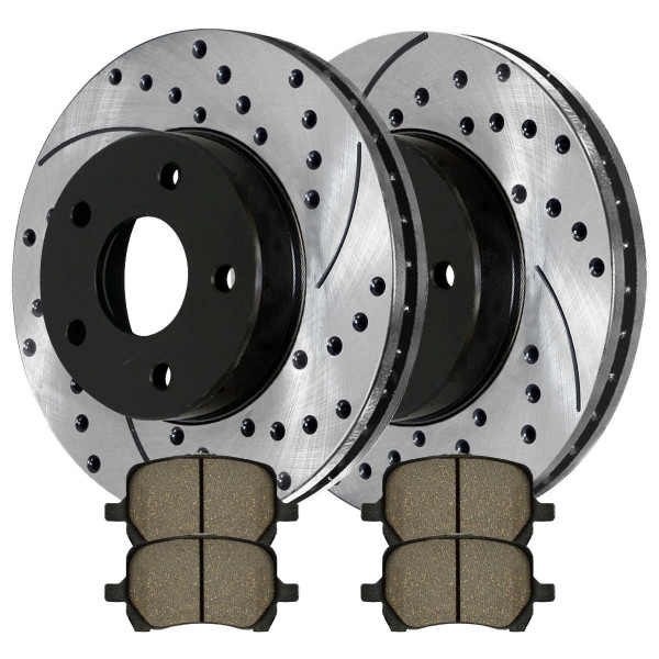 [Front set] 1 Performance Ceramic Brake Pads 2 Performance Rotors - Part # PERF650971160
