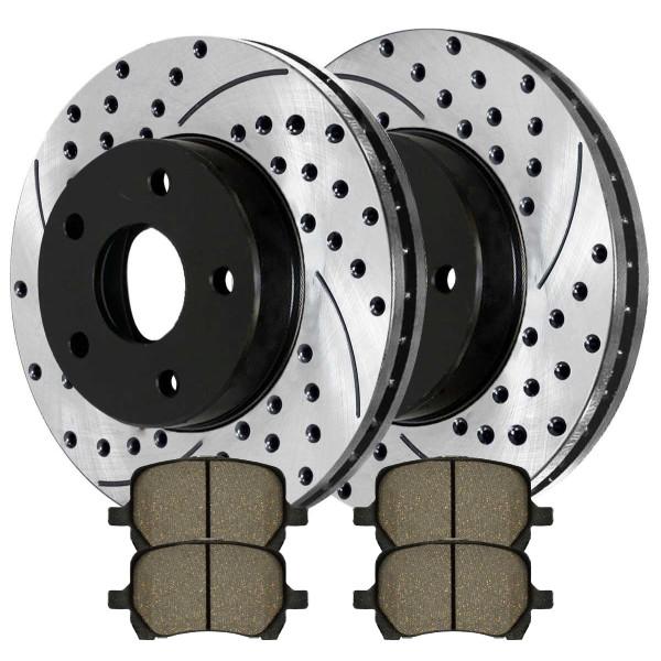 Front Performance Ceramic Brake Pad and Performance Rotor Bundle - Part # PERF651241160