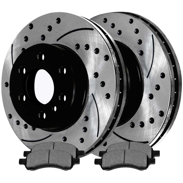 Front Performance Ceramic Brake Pad and Performance Rotor Bundle - Part # PERF651521169