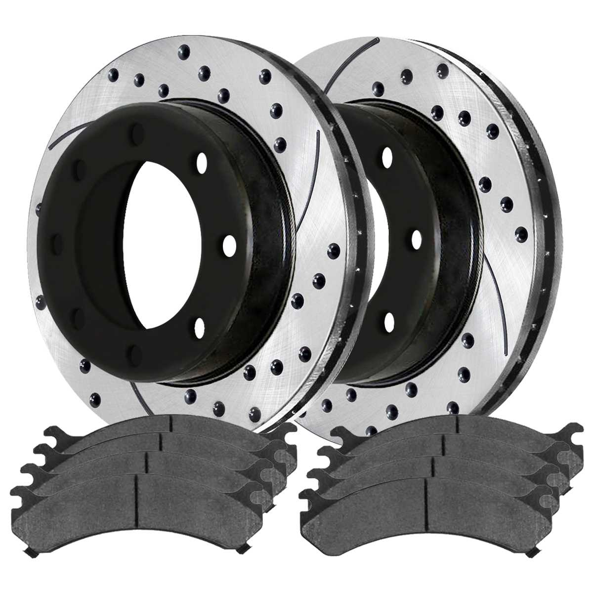 8 Ceramic Pads 4 Prime Choice Auto Parts SCD929PR41405 Front Rear Drilled Slotted Rotors