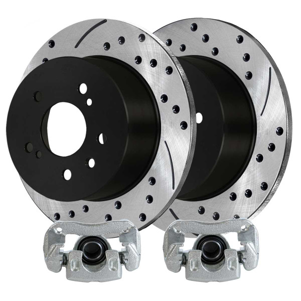 Rear Brake Caliper and Performance Rotor Bundle 4 Wheel Disc - Part # PR41324LR-BC29952