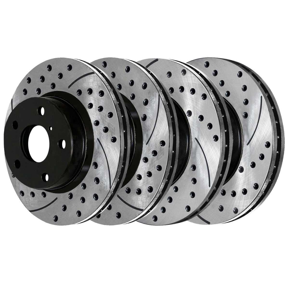 Prime Choice Auto Parts RSMK41272-41272-923-2-4 Set of 2 Premium Rotors /& 4 Semi Metallic Pads