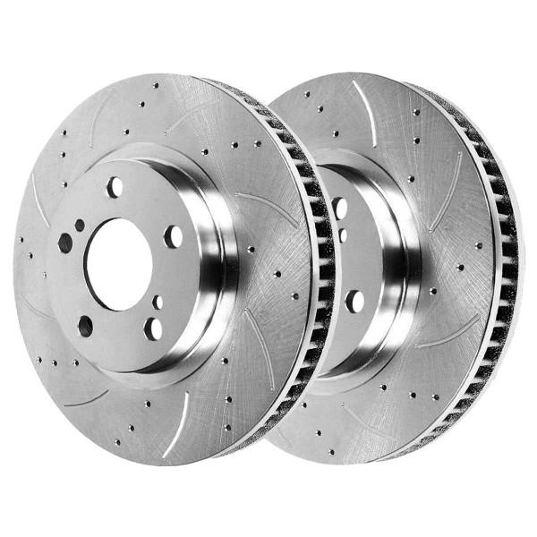 Front Performance Brake Rotor Pair Silver - Part # PR41507DSZPR