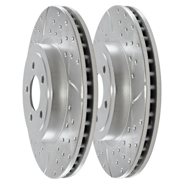 Front Performance Brake Rotor Pair Silver 13.6 Inch Diameter - Part # PR63025DSZPR