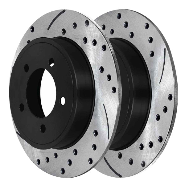 Rear Performance Drilled and Slotted Brake Rotor Pair 12 Inch Rotor Diameter - Part # PR63052LR