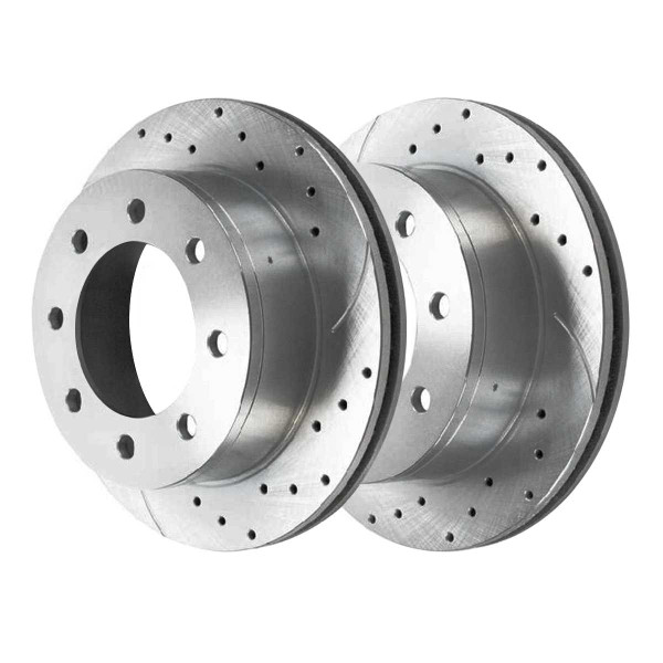 Front Performance Brake Rotor Pair Silver 4WD - Part # PR64126DSZPR