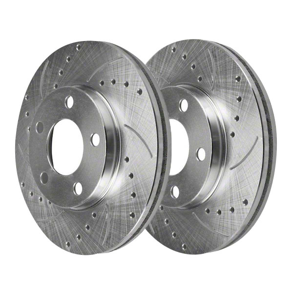 Rear Performance Brake Rotor Pair Silver - Part # PR64133DSZPR