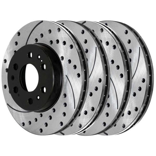 Front and Rear Performance Brake Rotor Bundle - Part # PR65099PR65135