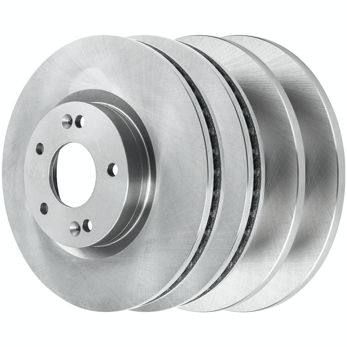 AutoShack R64113R64111 Front and Rear Brake Rotors
