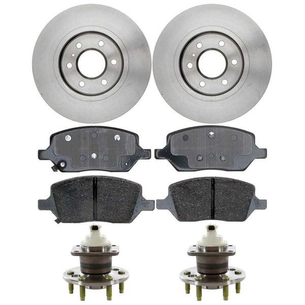 Set of New Rear Brake Rotors Ceramic Pads and Hub Bearing Assemblies - Part # RHBBK0245