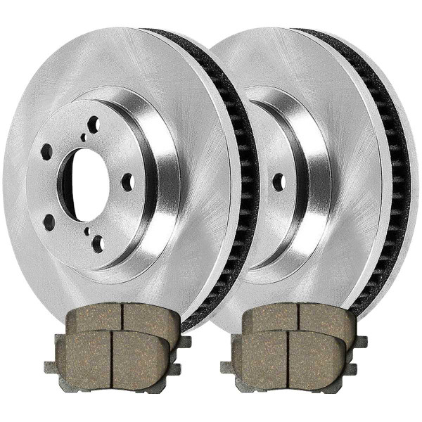 Front Ceramic Brake Pad and Rotor Bundle - Part # RSCD41272-41272-923-2-4