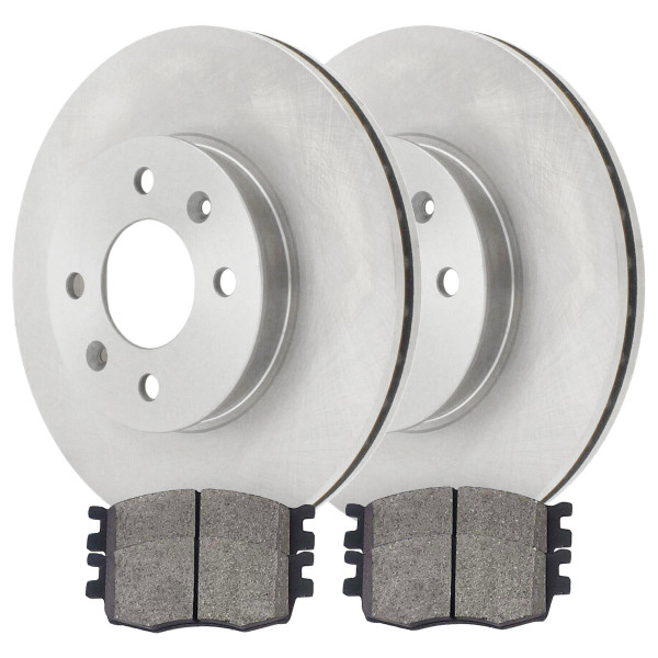 Front Ceramic Brake Pad and Rotor Bundle - Part # RSCD41434-41434-1156-2-4