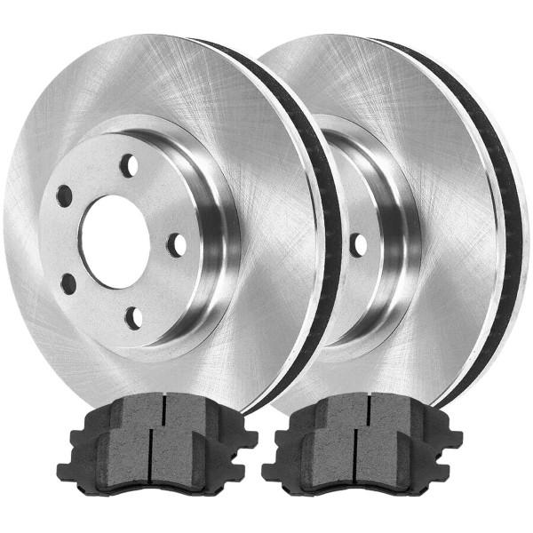 Front Ceramic Brake Pad and Rotor Bundle 11.57 Inch Rotor Diameter - Part # RSCD63040-63040-1285-2-4