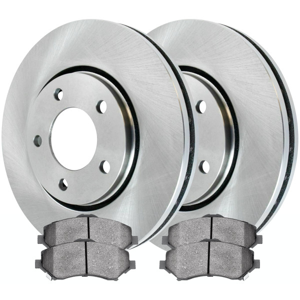 Front Ceramic Brake Pad and Rotor Bundle 11.89 Inch Rotor Diameter - Part # RSCD63053-63053-1273-2-4