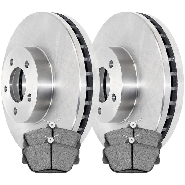 Front Ceramic Brake Pad and Rotor Bundle 11.57 Inch Rotor Diameter - Part # RSCD64032-64032-598-2-4