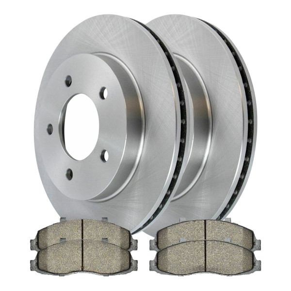 [Front Set] 2 Brake Rotors & 1 Set Ceramic Brake Pads - Part # RSCD64044679