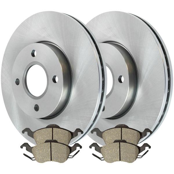 Front Ceramic Brake Pad and Rotor Bundle - Part # RSCD64081-64081-816-2-4