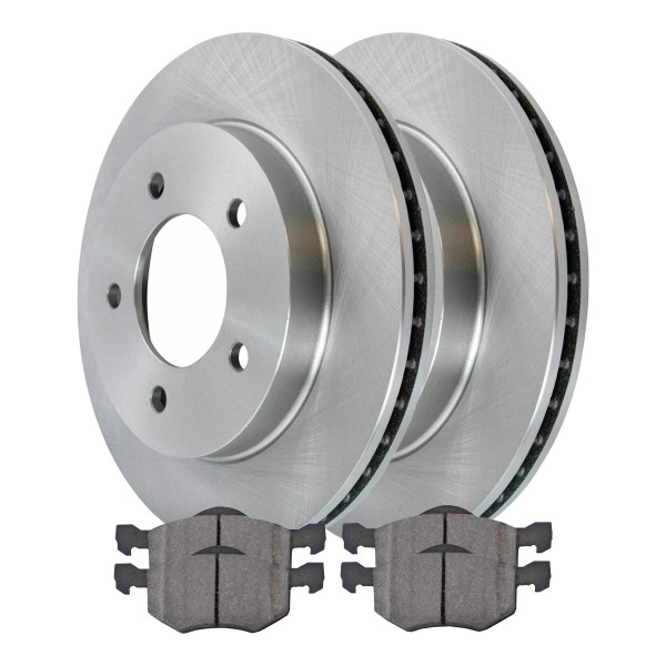 Front Ceramic Brake Pad and Rotor Bundle - Part # RSCD64095-64095-843-2-4