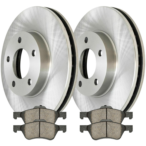 Front Ceramic Brake Pad and Rotor Bundle - Part # RSCD64125-64125-1047-2-4