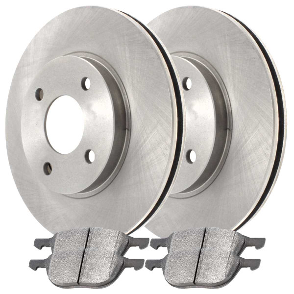Front Ceramic Brake Pad and Rotor Bundle - Part # RSCD64134-64134-1044-2-4