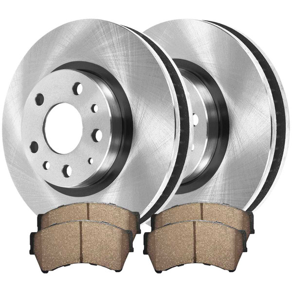 Front Ceramic Brake Pad and Rotor Bundle - Part # RSCD64144-64144-1164-2-4