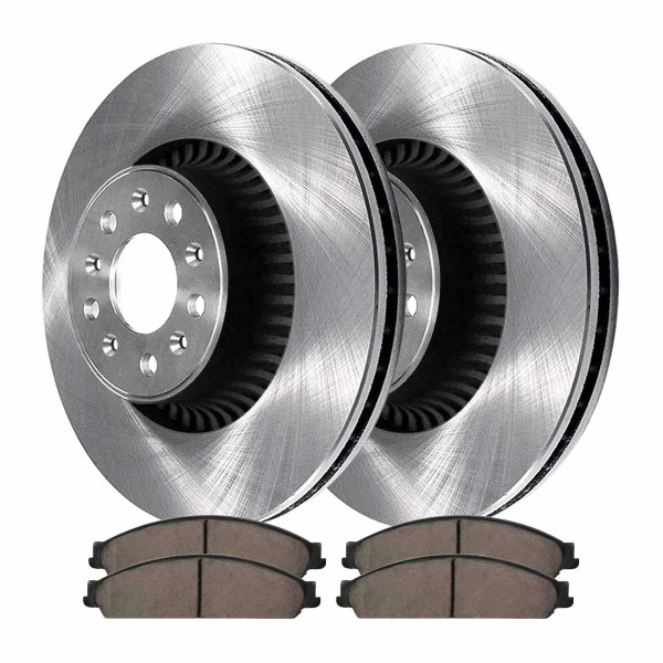 Front Ceramic Brake Pad and Rotor Bundle - Part # RSCD64159-64159-1070-2-4