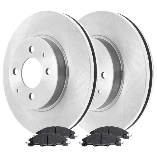 Front Ceramic Brake Pad and Rotor Bundle - Part # RSCD64163-64163-1339-2-4