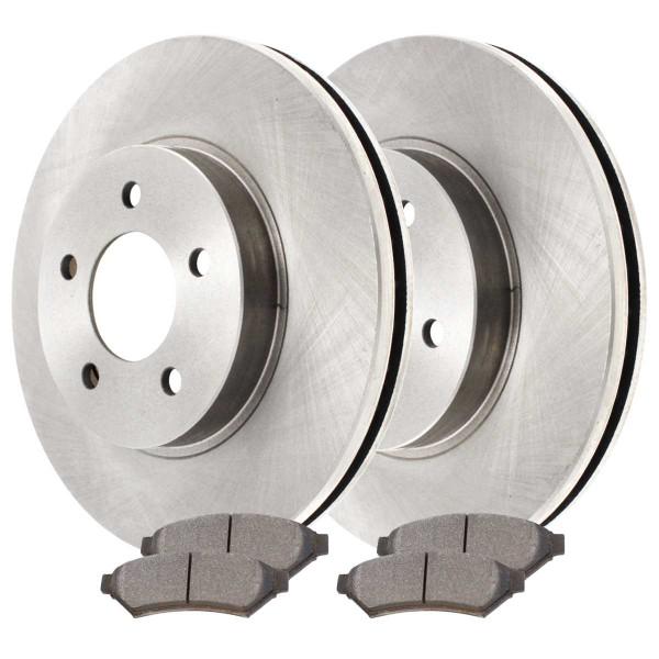 Front Ceramic Brake Pad and Rotor Bundle - Part # RSCD65089-65089-1075-2-4