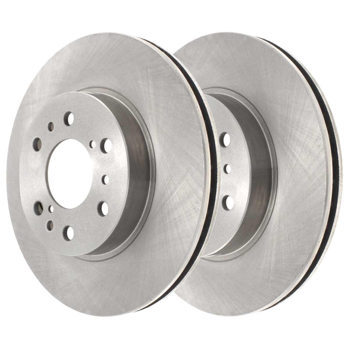 AutoShack RSMK65072-65072-844-2-4 Front Brake Rotors and Semi Metallic Pads