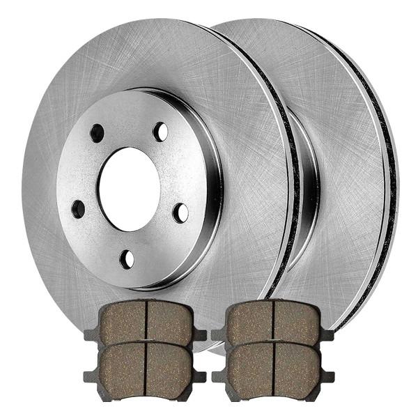 Front Ceramic Brake Pad and Rotor Bundle - Part # RSCD65124-65124-1160-2-4