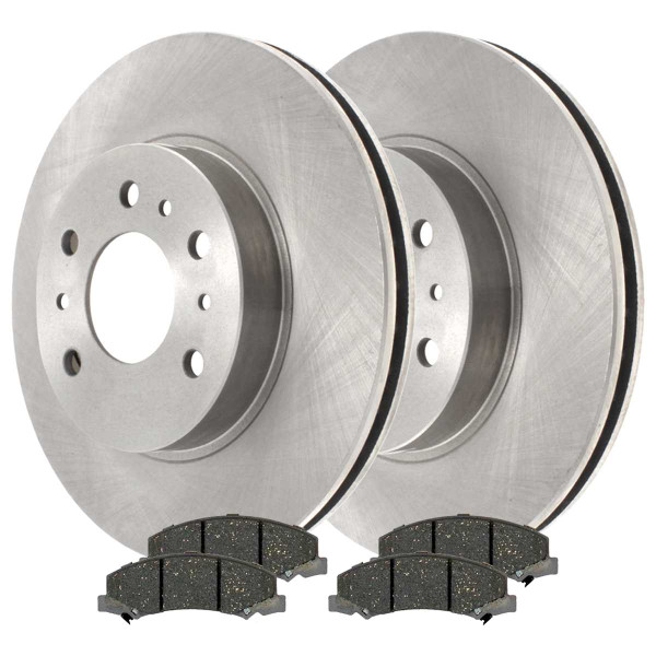 [Front Set] 2 Brake Rotors & 1 Set Ceramic Brake Pads - Part # RSCD65128-65128-1159-2-4