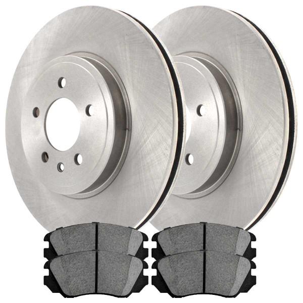 Front Ceramic Brake Pad and Rotor Bundle - Part # RSCD65176-65176-1421-2-4