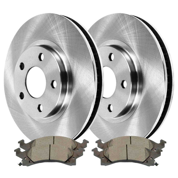 Front Ceramic Brake Pad and Rotor Bundle - Part # RSCD6582-6582-673-2-4