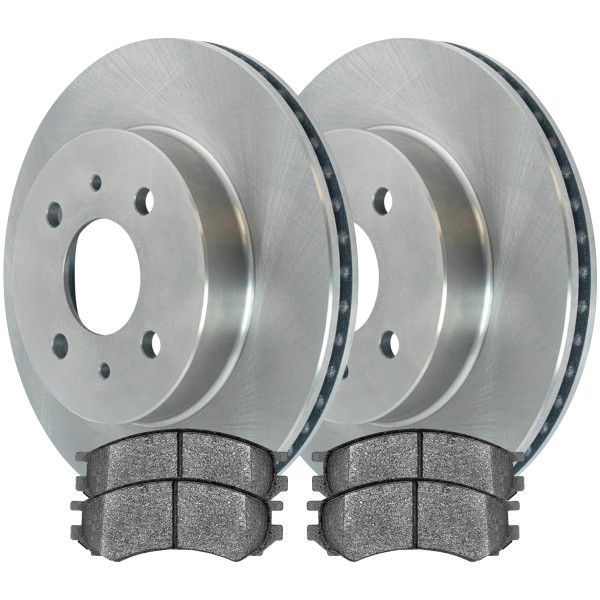 Front Ceramic Brake Pad and Rotor Bundle - Part # RSCD6583-6583-507-2-4