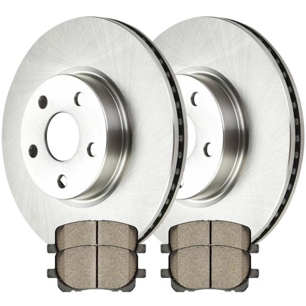 Front Semi Metallic Brake Pad and Rotor Bundle - Part # RSMK41272-41272-923-2-4