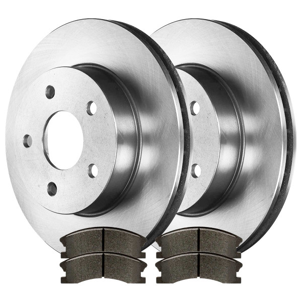 Front Semi Metallic Brake Pad and Rotor Bundle - Part # RSMK6120-6120-945-2-4