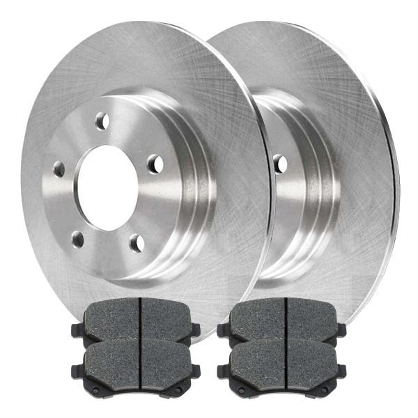 Rear Semi Metallic Brake Pad and Rotor Bundle 12 Inch Rotor Diameter - Part # RSMK63052-63052-1326-2-4