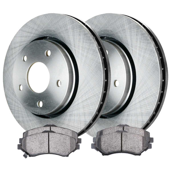 Front Semi Metallic Brake Pad and Rotor Bundle 302mm Rotor Diameter - Part # RSMK63053-63053-1273-2-4