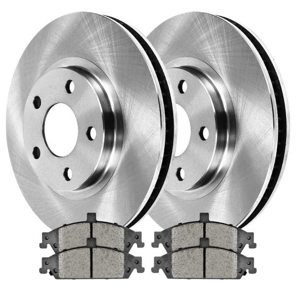 Front Semi Metallic Brake Pad and Rotor Bundle 10.94 Inch Rotor Diameter - Part # RSMK65042-65042-727-2-4