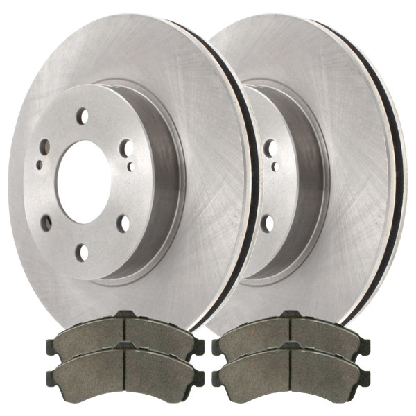 Front Semi Metallic Brake Pad and Rotor Bundle - Part # RSMK65071-65071-882-2-4
